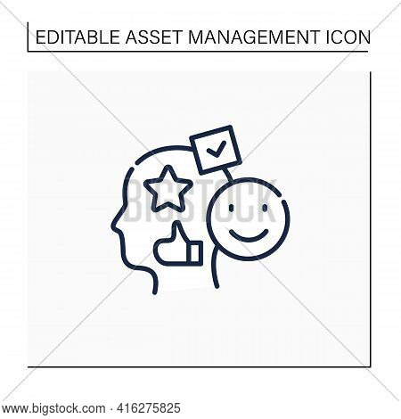 Accounting Goodwill Line Icon. Intangible Asset. Buyer Acquires An Existing Business.benevolence. As