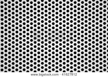 Perforated Aluminum Sheet Metallic Background