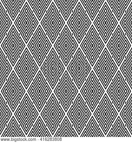Abstract Seamless Geometric Diamonds Pattern. Vector Art.