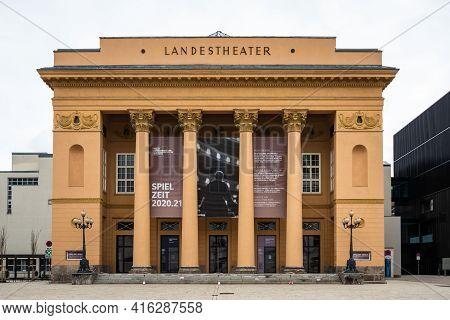Innsbruck, Tyrol, Austria - February 8 2021: Tiroler Landestheater Innsbruck Or Tyrolean State Theat
