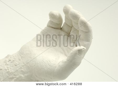 photo of a plaster hand poster