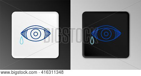 Line Reddish Eye Due To Viral, Bacterial Or Allergic Conjunctivitis Icon Isolated On Grey Background