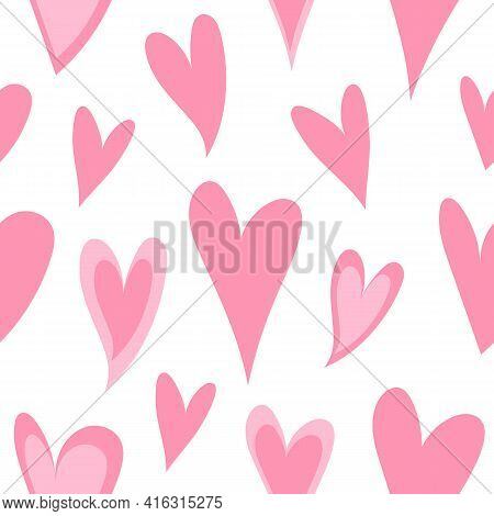 Festive Seamless Pattern For Valentine's Day - For Paper, For Fabric, For Textile, Romantic Cute Pin