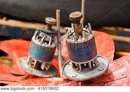Old And Rusty Fan Motor Scrap