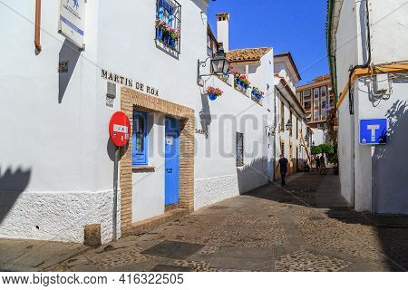 Cordoba, Spain - May 23, 2017: These Are Streets And Typical Andalusian Development Of The Medieval