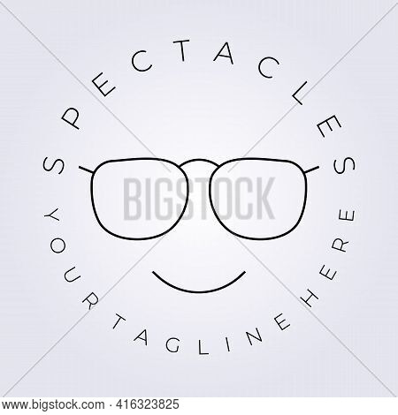 Handsome Beautiful Spectacle Fashion Logo Vector Icon Symbol Sign Label Illustration Design Line Art