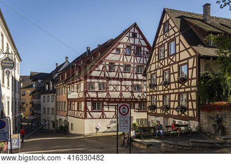 Meersburg, Germany, September 2016 - Historic Buildings In The City Of Meersburg, Germany