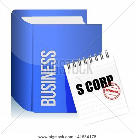 Approved Stamp On A S Corporation Legal Document