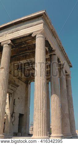 View On The Temple Of Parthenon, Acropolis Of Athens