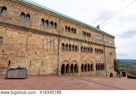 Castle Courtyard Of Wartburg Castle Near Eisenach, Thuringia