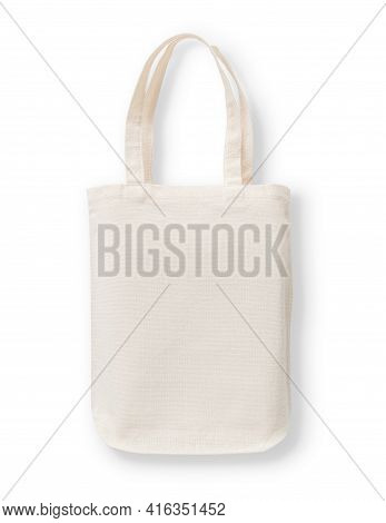 Tote Bag Mockup, Blank Canvas Cotton Fabric Cloth For Eco Shopping Sack Mock Up Template Isolated On