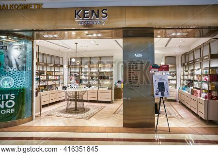 KUALA LUMPUR, MALAYSIA - CIRCA JANUARY, 2020: KENS apothecary storefront at Suria KLCC shopping mall in Kuala Lumpur.
