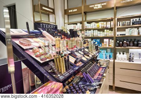KUALA LUMPUR, MALAYSIA - CIRCA JANUARY, 2020: personal care products on display at KENS apothecary store in Suria KLCC shopping mall in Kuala Lumpur.