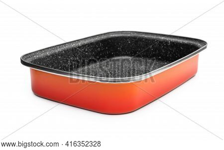 Square Baking Dish Isolated On A White.