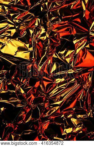Foil Background. Crumpled Foil. Abstract Background. Wallpaper