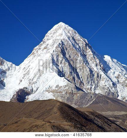 Mountain Pumori In Nepal Himalayas