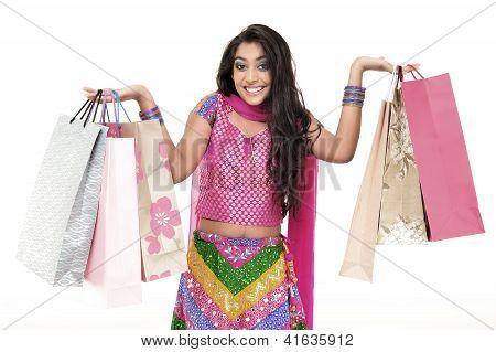 Beautiful Girl Wearing Indian Ethnic Dress