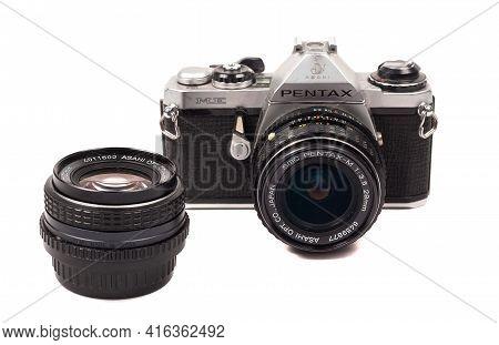 November 29, 2017, Moscow, Russia. A Small-format Single-lens Reflex Camera From Asahi Optical Penta