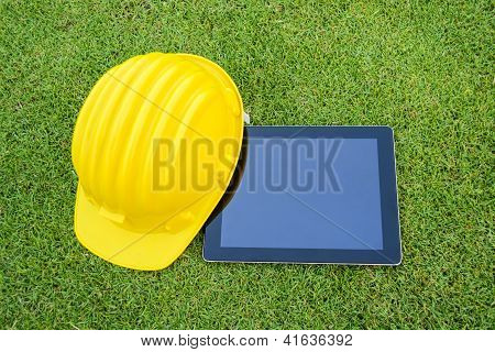 Tablet And Safety Helmet