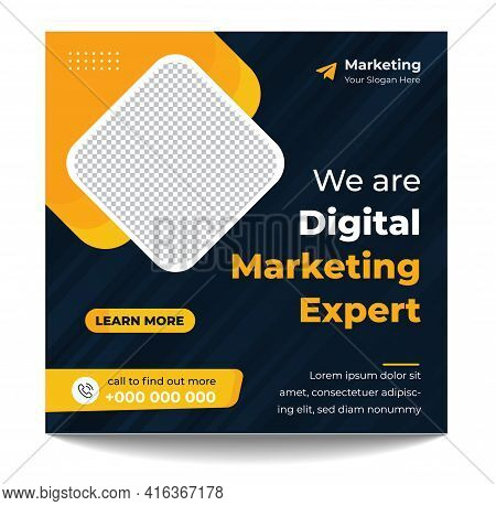 Digital Marketing Expert Social Media Post Template, Digital Marketing Agency, Creative Marketing Ex