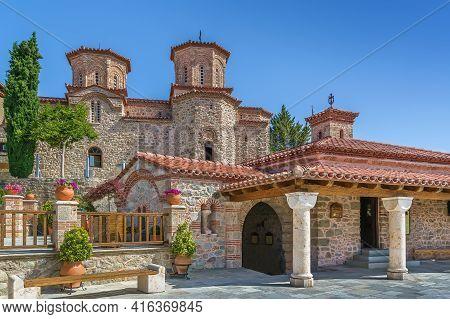 Church In Monastery Of Varlaam In Meteora, Greece