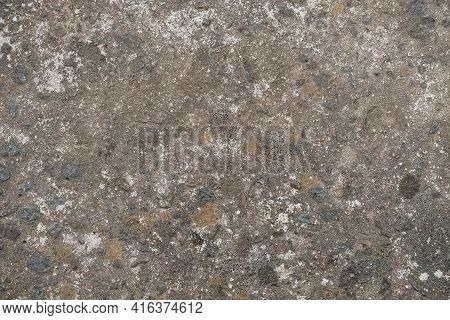 Gray Concrete Surface Texture As Background. Copy, Empty Space For Text