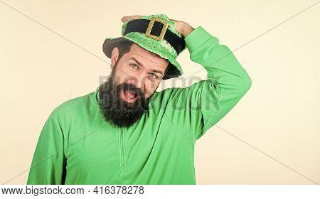 Green Color Part Of Celebration. Myth Of Leprechaun. Happy Patricks Day. Global Celebration Of Irish