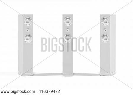 Speaker Mockup On A White Background - 3d Render