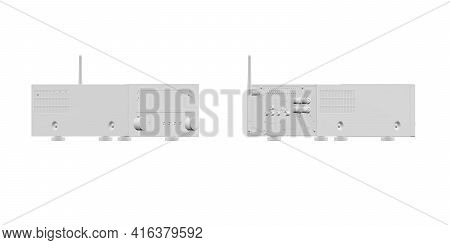 Hifi System Mockup Isolated On White Background - 3d Render