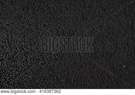 Black Texture, Asphalt Surface Grunge Rough Of Bitumen, Tarmac Dark Grey Grainy Road, Driveway Backg