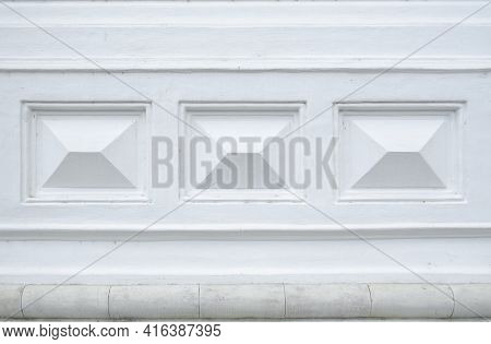 White Block High Relief To Decorated On The Wall To Surface Dimension Rectangle. Elements Of The Arc
