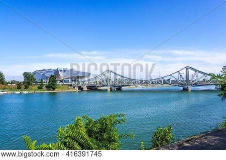 Lyon, France - August 22, 2019: Musee Des Confluences Is A Science Centre And Anthropology Museum In