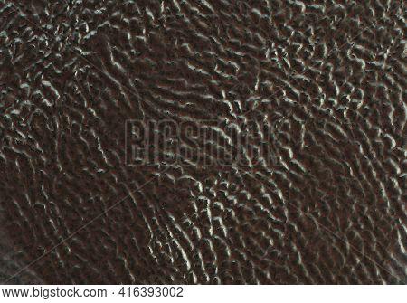 Ceramic Tile Brawn Leather Effect Background. Closeup Texture