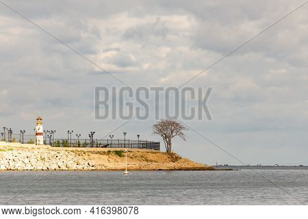 Sevastopol Presidential Cadet School. View Of The Pier From The Bay. Exit From Streletskaya Bay