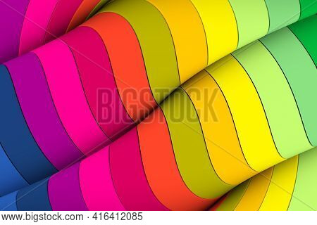 Colorful Twist Abstract Background 3d Render Illustration