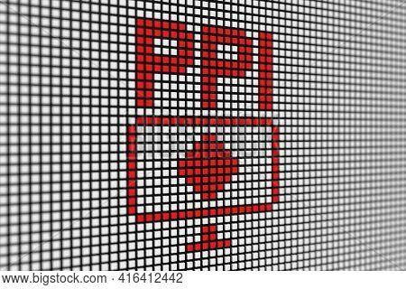 Ppi Text Scoreboard Blurred Background 3d Illustration