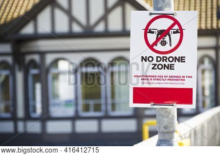 No Drone Zone Sign No Flying Permitted Air Zone