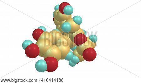 Epigallocatechin Gallate Molecular Structure Isolated On White