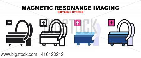 Magnetic Resonance Imaging Icon Set With Different Styles. Icons Designed In Filled, Outline, Flat,