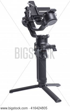 Professional Gimbal Stabilizer 3-axis For Camera Isolated On White Background
