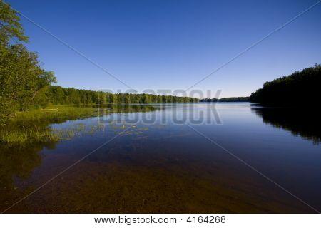 Minnesota Lake In Blue