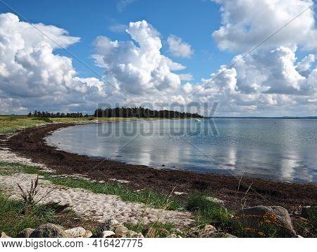 Typical Beautiful Natural Danish Coastline Beach Landscape In The Summer Baagoe B