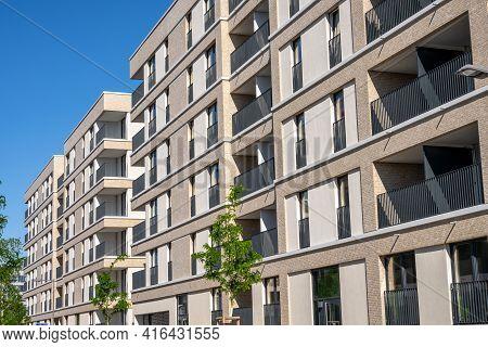 Modern Beige Multi-family Apartment Buildings In Berlin, Germany