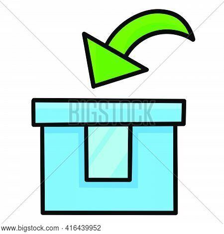 Input Box Symbol. Doodle Icon Drawing Illustration