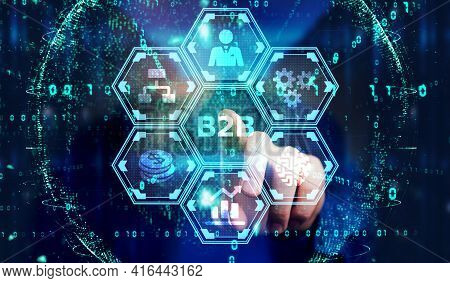 Business, Technology, Internet And Network Concept. B2b Business Company Commerce Technology Marketi