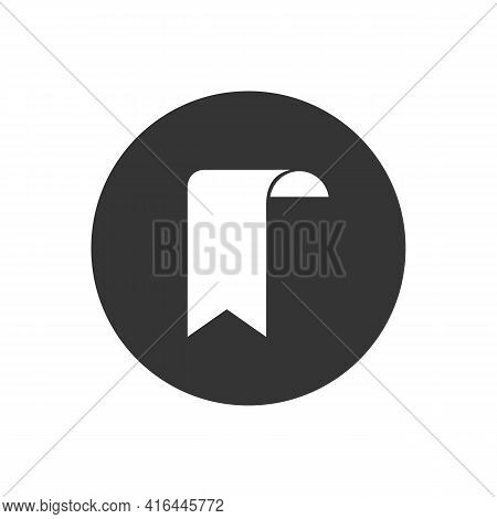 Bookmark Outline And Filled Vector White Icon Sign Symbol