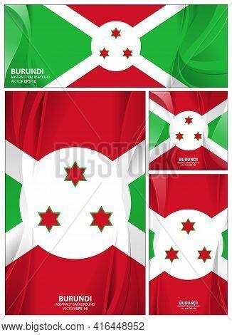 Burundi Flag Abstract Colors Background. Collection Banner Design. Brochure Vector Illustration.