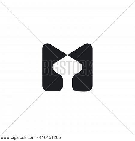 Letter M Curves Geometric Simplicity Logo Vector