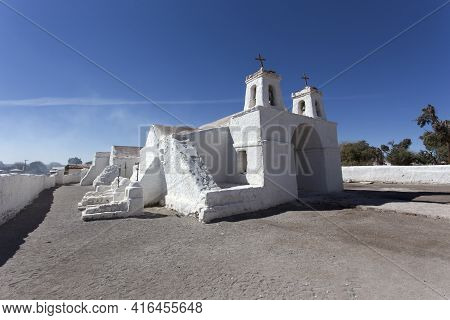 The Wonderful White Church In Chiu Chiu, Chile