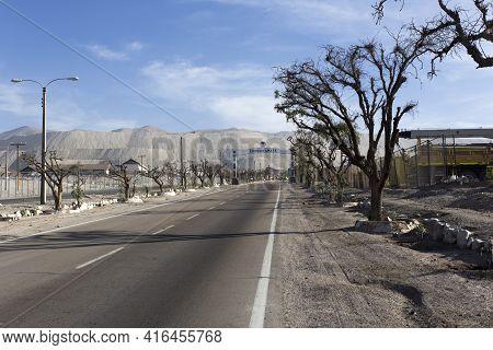 Entrance Of Chuquicamata Copper Mine